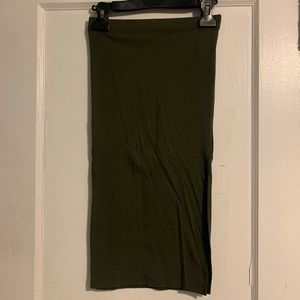 Forever 21 green pencil skirt size small